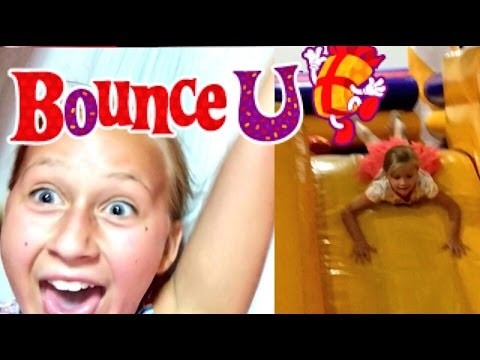 CRAZY LITTLE GIRLS FILM SELFIE STYLE ON BOUNCY SLIDES AT BOUNCE U!