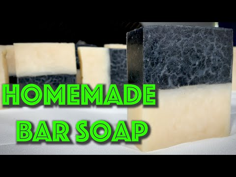 Charcoal and Ivory Bar Soap Recipe