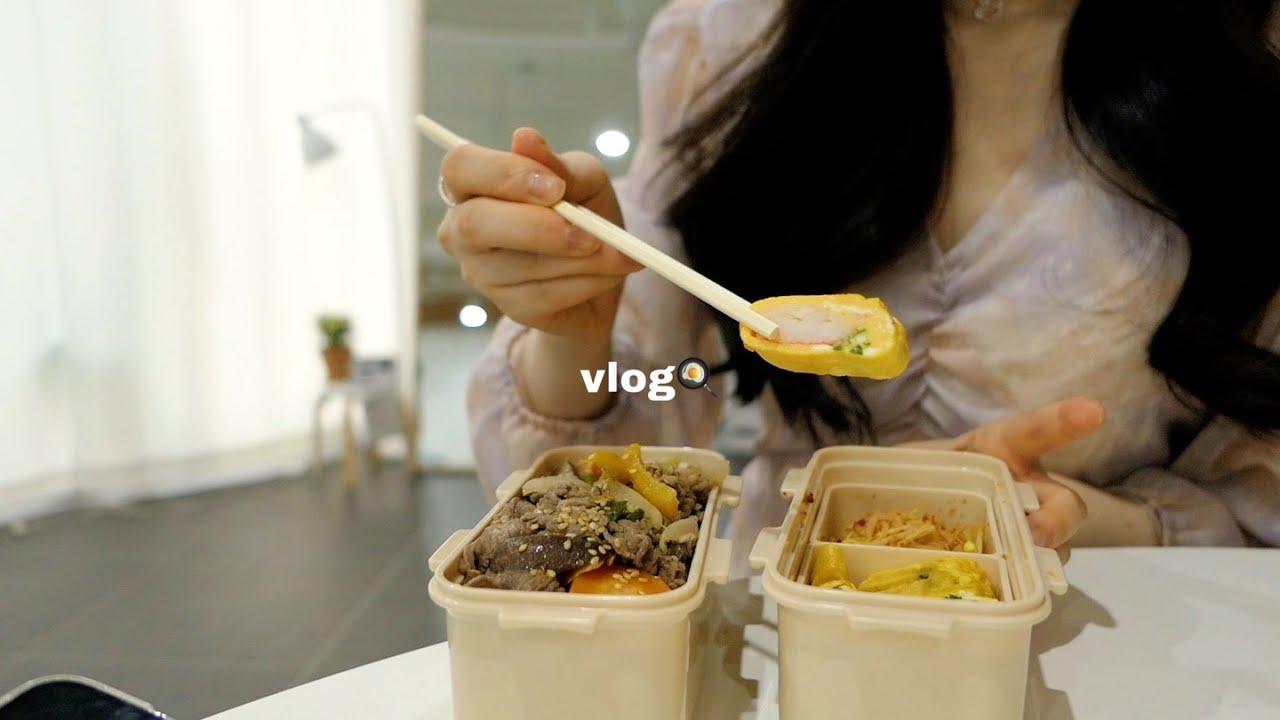 vlog   치아바타샌드위치🥪감자샐러드 만들어먹고 친구랑 카페 다녀온 소소한 일상
