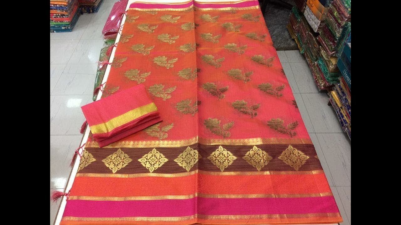 6cf1cfebcc New Launch Banarasi Tanchoi Silk Sarees || new banarasi semi silk saree  collections