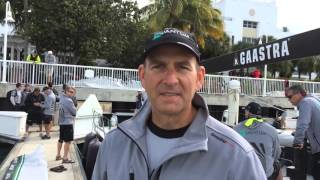 Quantum Racing skipper Doug DeVos discusses race week, TP 52 sailing.