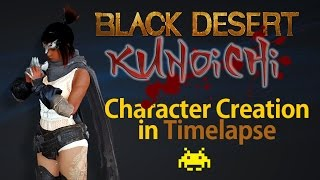 [MMORPG] Black Desert Character Creation: Kunoichi -Timelapse-