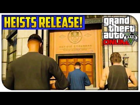 GTA 5 Online - OFFICIAL HEISTS RELEASE DATE INFO! (First Next Gen DLC) [GTA V PS4 & Xbox One]