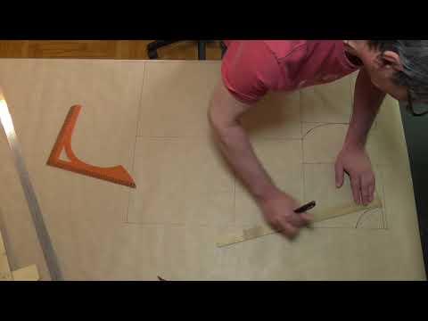 видео: построение конструкции мужской сорочки на бумаге ( лекала )