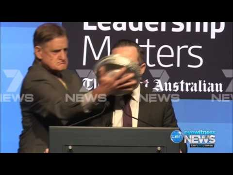 Qantas' Alan Joyce gets pie faced in Perth