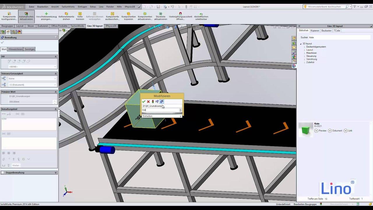 Lino 3D layout & industrialPhysics - YouTube