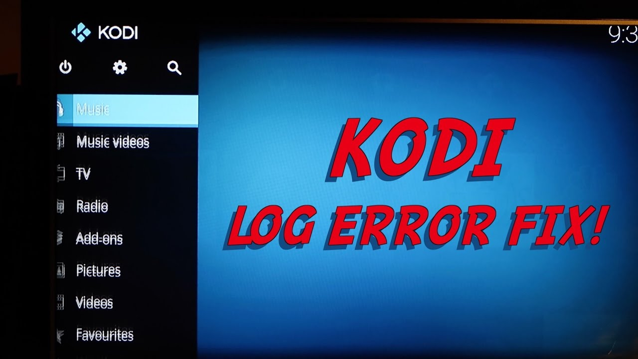 Kodi Log Error Fix Exodus Amazon Fire Stick
