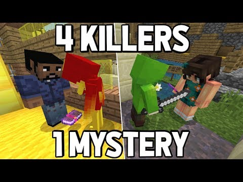 THERE ARE 4 KILLERS BUT ONLY 1 MYSTERY !! : Minecraft Murder Mystery 2
