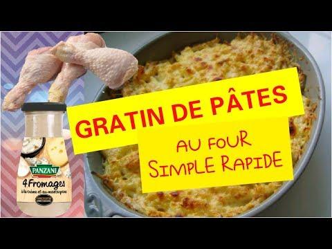 gratin-de-pÂtes-au-four-fromage-poulet-recette-facile-rapide