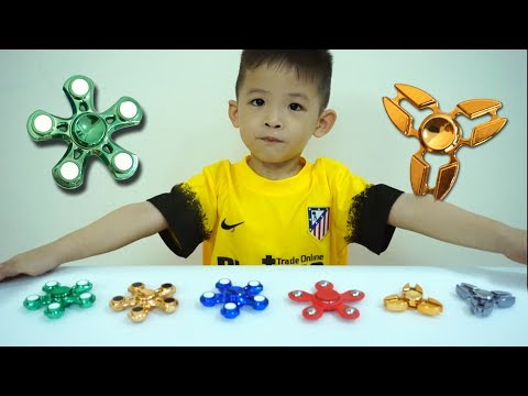 Thumbnail: Learn Colors with FIDGET SPINNER Toys Wind & Water - Baby Xavi learn Colours for children and kids