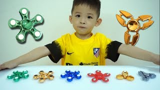 Xavi Learn Colors with FIDGET SPINNER Toys Wind & Water