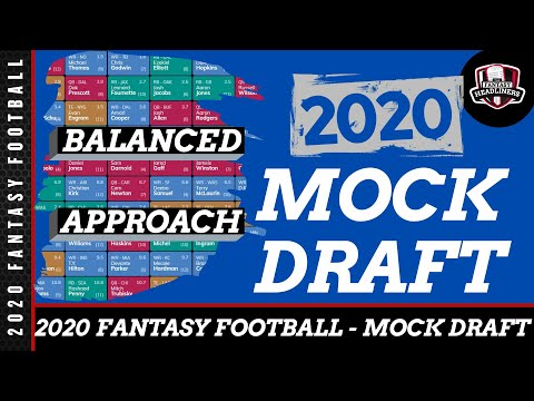 Fantasy Football Mock Draft - 2020 Mock Draft With Player Analysis - The Balanced Approach