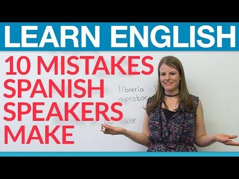 Aprende inglés: 10 common Spanish speaker mistakes