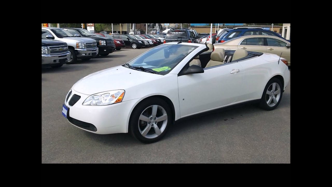 2008 Pontiac G6 Convertible 86 382kms Wmv Youtube