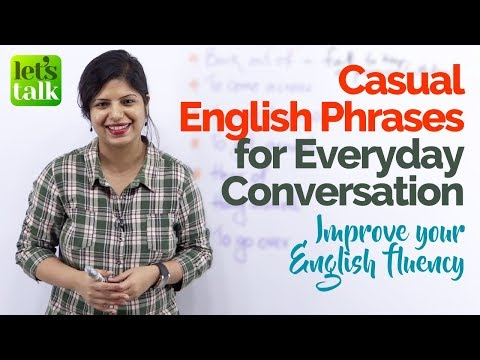 Casual Everyday English Conversation Phrases to speak English fluently & confidently  (ESL Lesson)