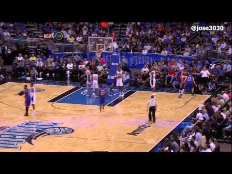 Landry Fields Wipes Out Referee Bill Kennedy - Knicks @ Magic 4/5/2012