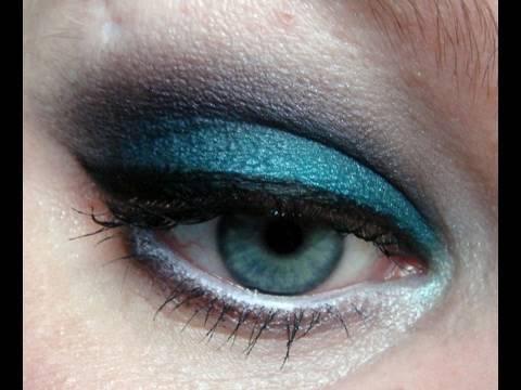 Bright Aqua Purple Smokey Eye Makeup Look Youtube