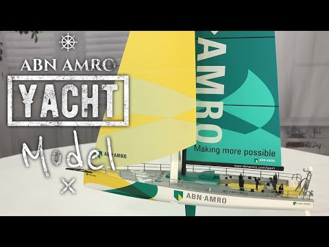 Model of the ABN AMRO Racing Yacht Two for the 2005-2006 Volvo Ocean Race