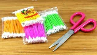 DIY Cotton buds reuse idea | Best craft idea | DIY arts and crafts | DIY cotton buds