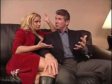 Trish Stratus & Mr McMahon Talking About Breast Implants