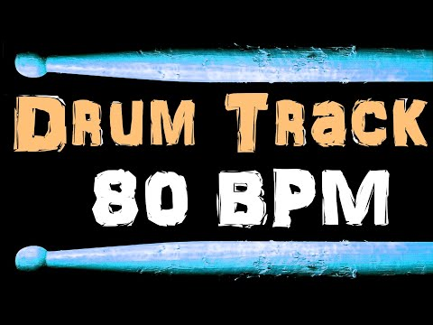 Smooth Jazz Funk Groove Backing Drum Track 80 BPM Bass Guitar Practice Jam
