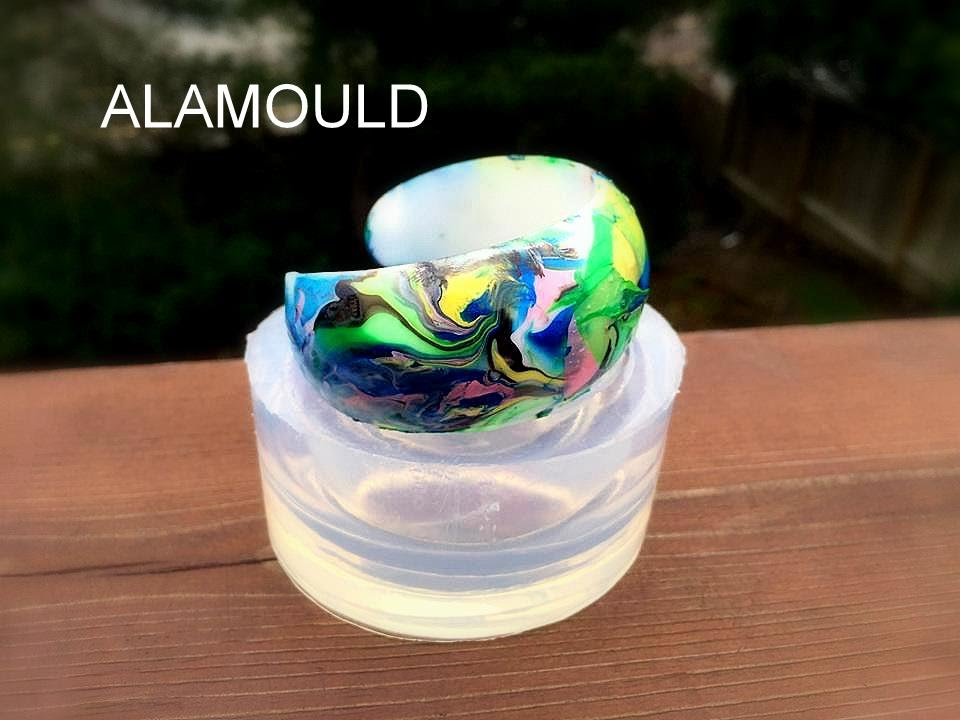 Making Resin Abstract Cuff Bracelet! Very Fast 35min, Easy and Fun! Clear  Silicone Mold by ALAMOULD