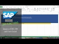 SAP Function BAPI Scripting - Calling RFC FM from Excel