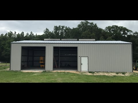 60x40 Metal building DIY and what to expect