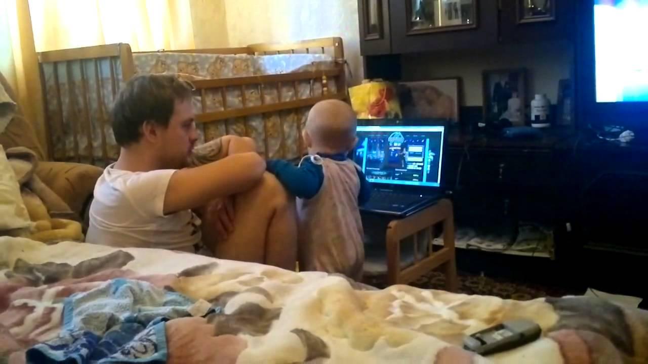 Малышка ругается с папой