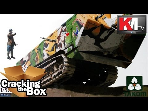 Unboxing The Takom St. Chamond (1/35) French Heavy Tank
