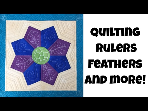 How to Quilt a Dresden Plate Block - Ruler Foot Quilting, Feathers and More with Leah Day