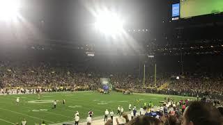 Green Bay Packers intro Defense Lambeau Field 2019