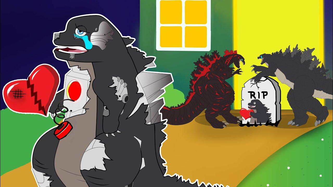 Download R.I.P ROBOT BABY GODZILLA 🤖 - Sad Ending Animation 😢   Toni Godzilla Animation Cartoon