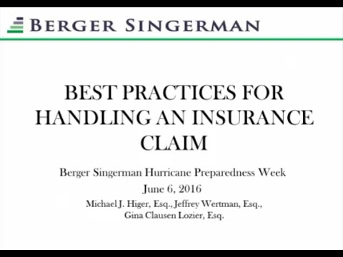 Best Practices in Handling Insurance Claims
