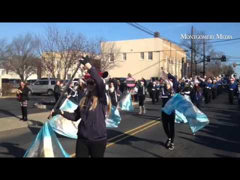 Council Rock High School North Marching Band and Band Front participate in the McCaffrey's Newtown C