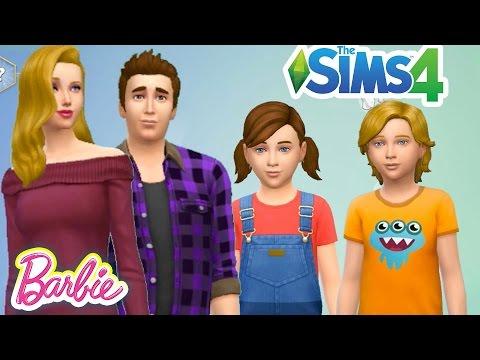 Barbie ve Ailesi Yapımı | The Sims 4 oyununda Barbie ve Ailesi Nasıl Yapılır | Evcilik TV