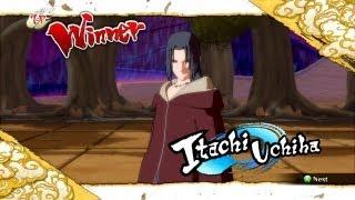Naruto Ultimate Ninja Storm 3 Edo Itachi Complete Moveset with Command List