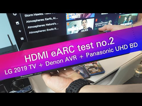 HDMI eARC connection test no 2 - LG TV, Denon AVR and Panasonic UHD