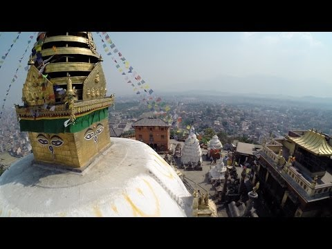 Kathmandu Monkey temple from the air
