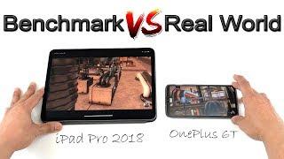 iPad Pro 2018 vs OnePlus 6T Benchmark vs Real World Test! [4K] 60fps