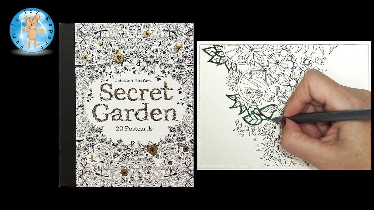Secret Garden By Johanna Basford Adult Coloring Book Postcards Frog