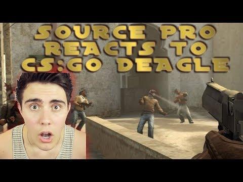 Counter-Strike Source PRO Reacts To CSGO Deagle!