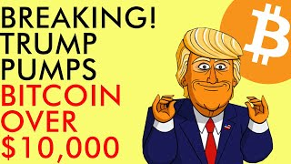 BREAKING! TRUMP Pumps BITCOIN Over $10,000 as Protests Rage Across America - June 2020 Crypto News