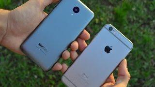 iPhone 6 vs Meizu M2 mini - нечестное сравнение
