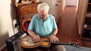 earl farnsworth playing dobro chimes on dobro steel guitar 1-18-15