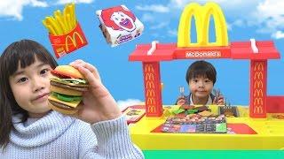 MacDonaldマクドナルドお店屋さんごっこハンバーガーはいかがですか~? こうくんねみちゃん Play set toy thumbnail