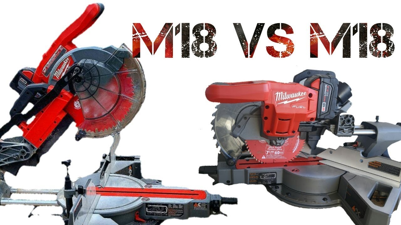 Milwaukee 10 Quot Vs 7 1 4 Quot Sliding Miter Saw Features Youtube