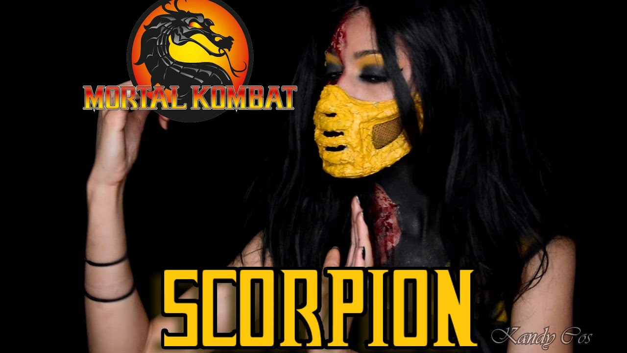 Mortal Kombat Scorpion Fx Diy Mask Body Paint Tutorial Youtube
