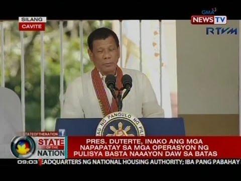 SONA: Pres. Duterte at VP Robredo, nag-usap sa graduation ng Philippine National Police Academy