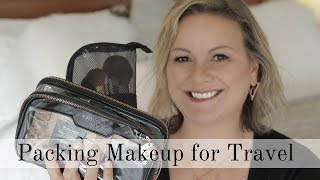 Packing minimal  travel makeup and how you can do it - mature beauty/over 50